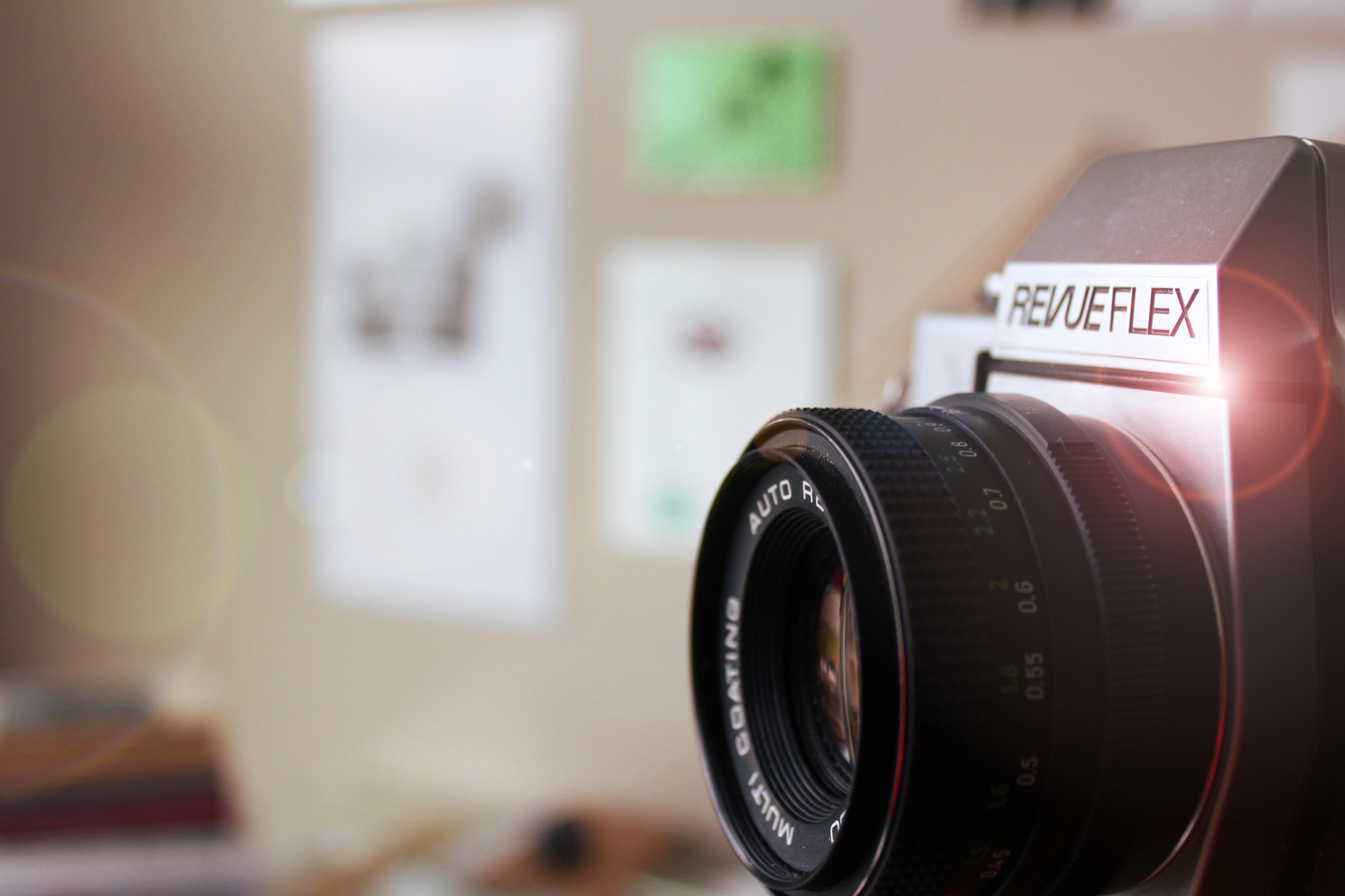 shallow focus photography of SLR camera