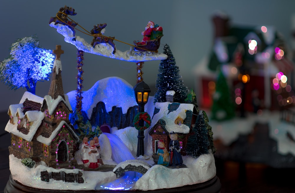 photo of snow village miniature