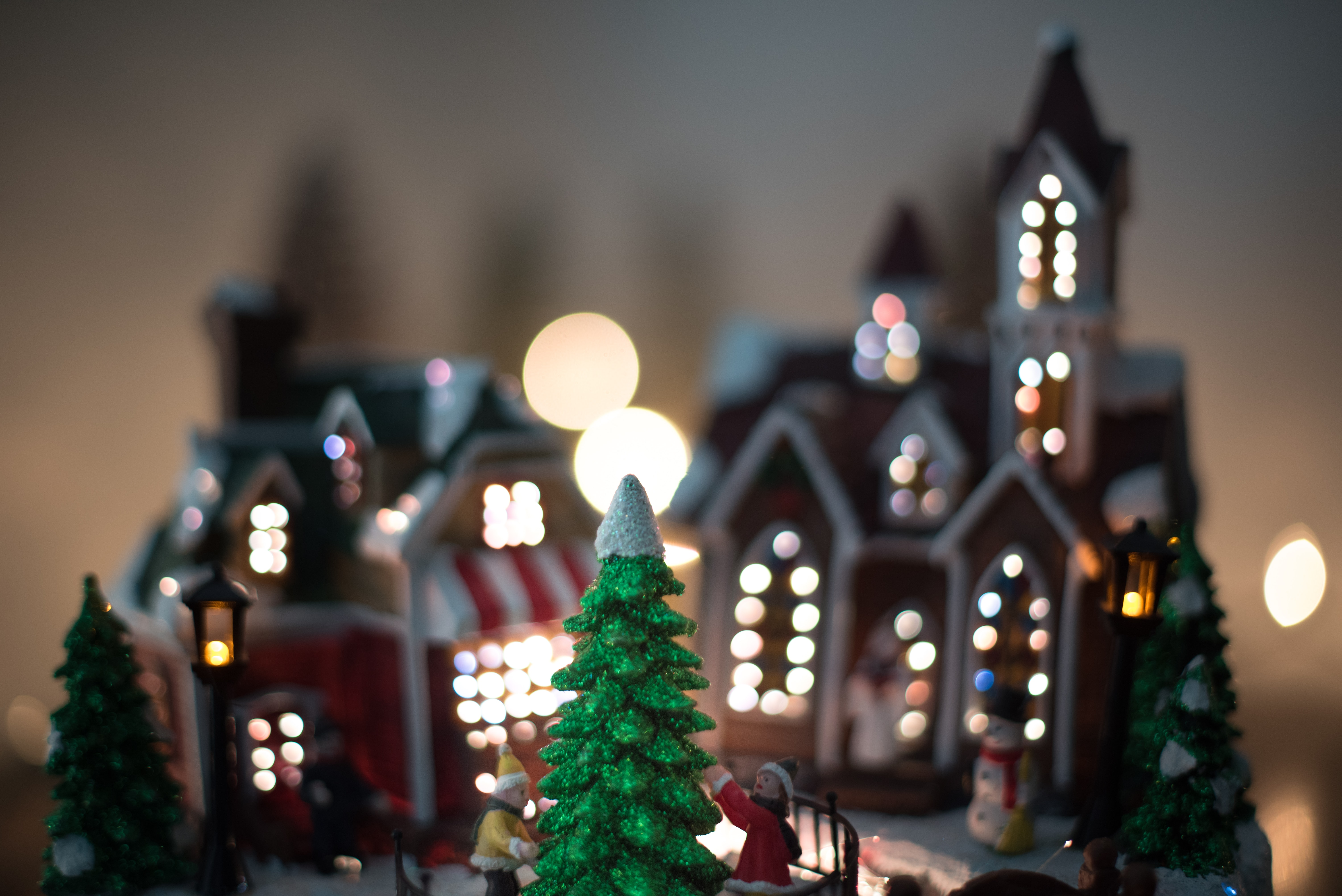 shallow focus photography of Christmas house decors