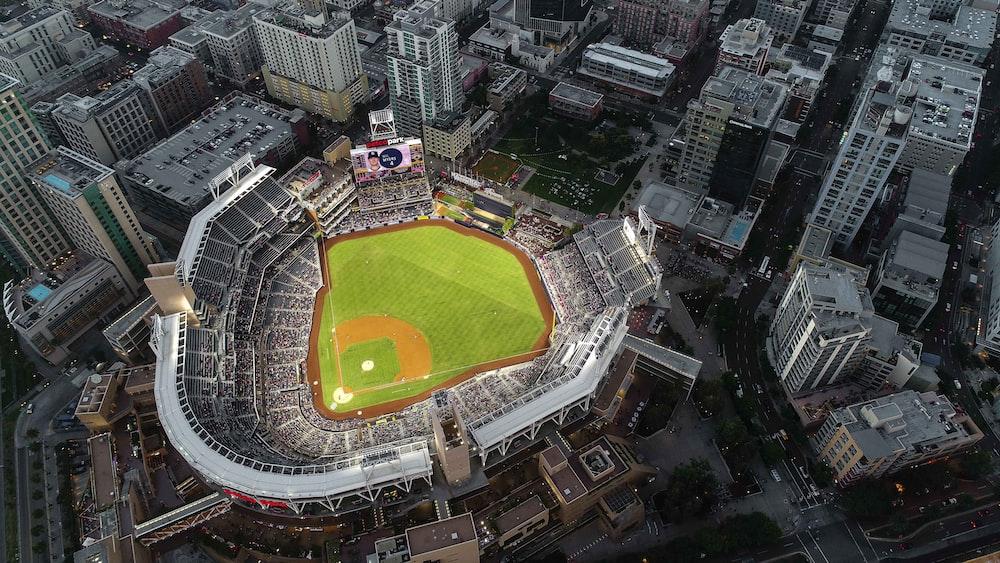 aerial view of stadium