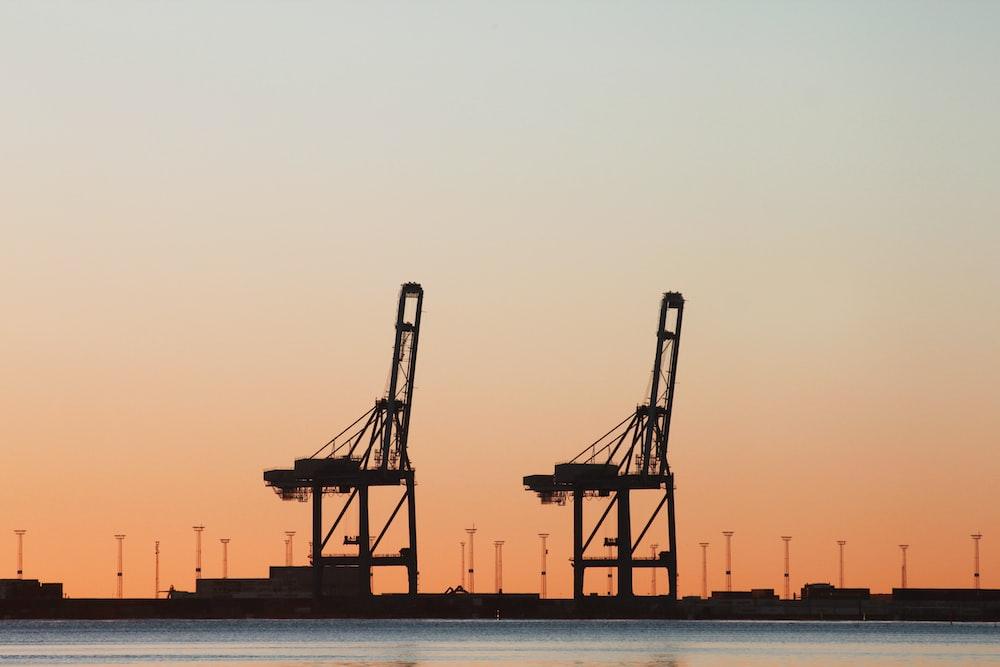 two black oil platforms