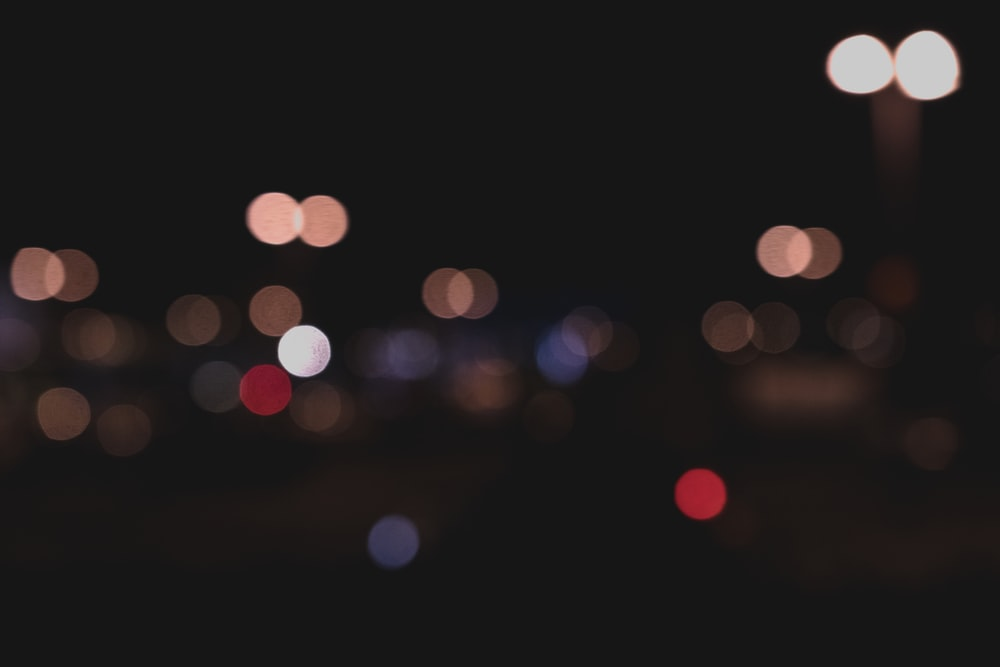 blurred photography of city lights