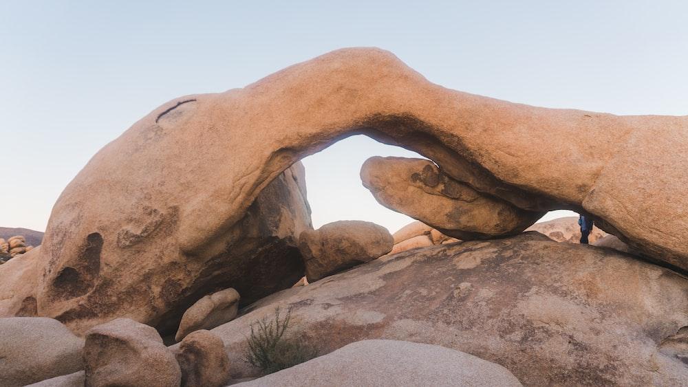 photo of brown boulder