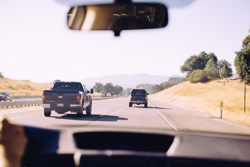 vehicles at road