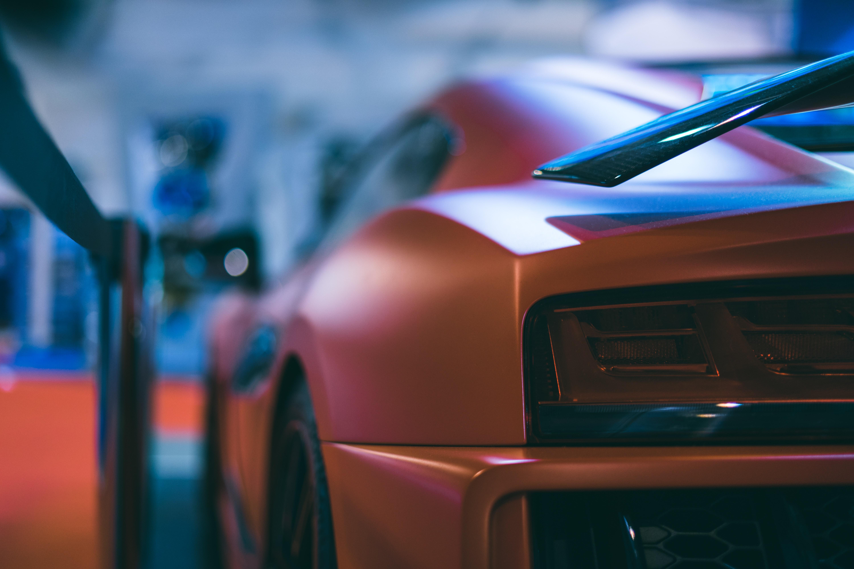 closeup photo of super car