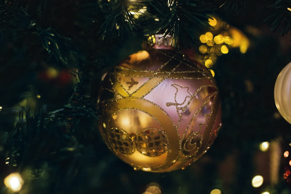 photo of pink Christmas bauble