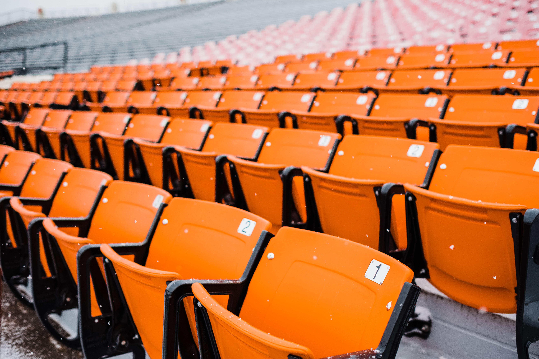 orange and black chairs