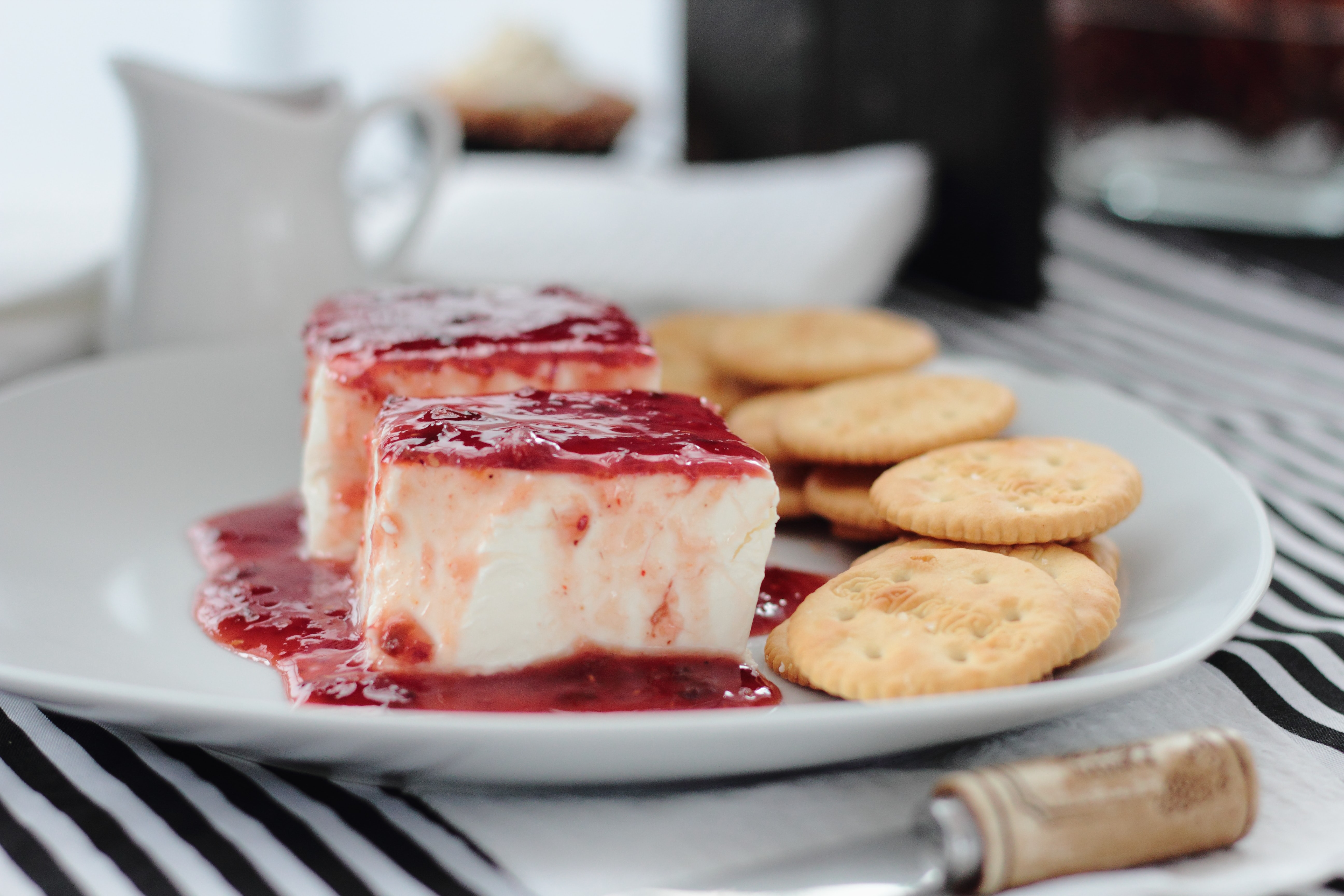cheese cake on white plate