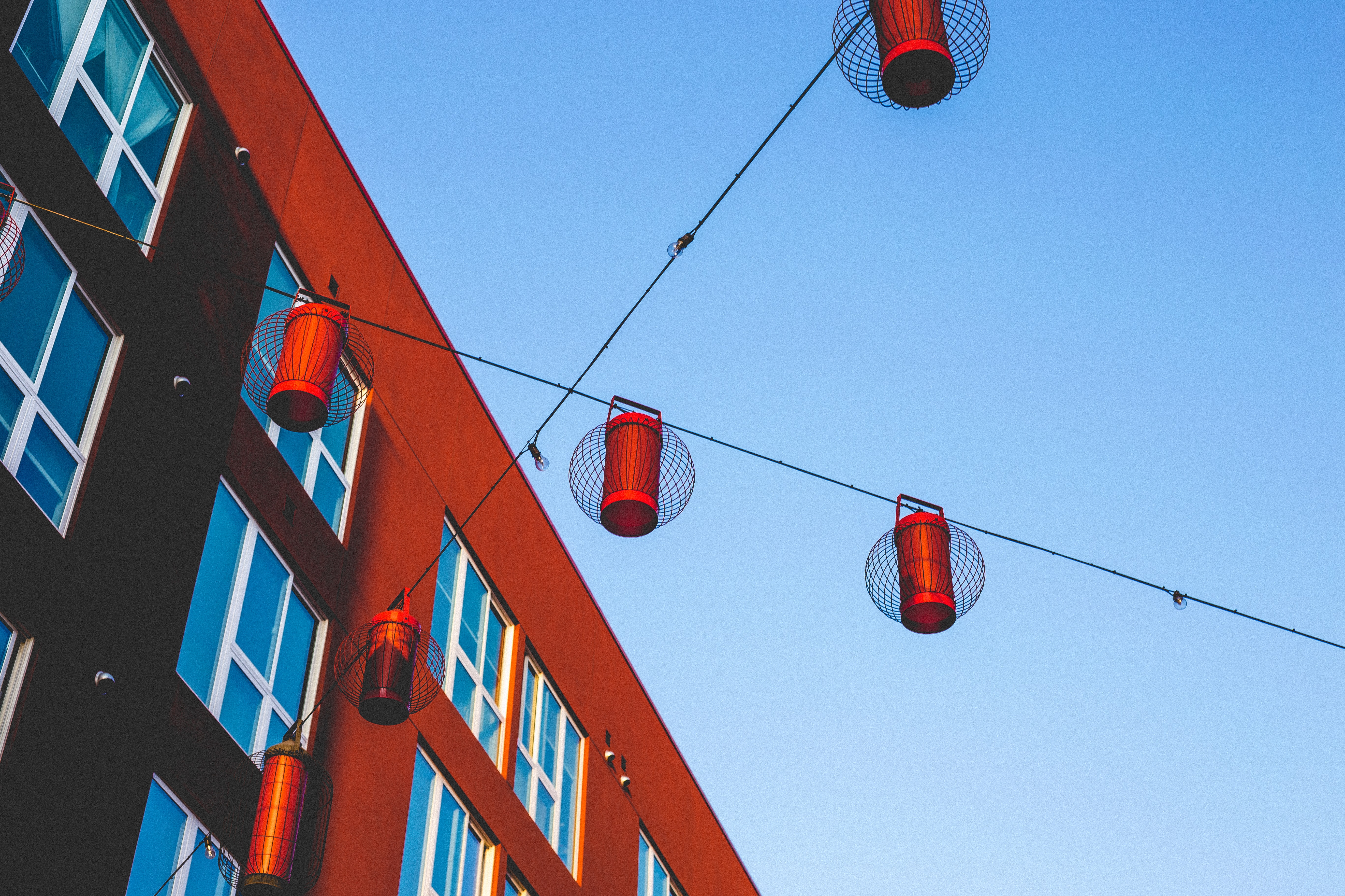red hanging decors
