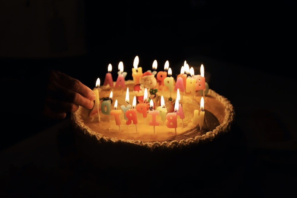 Cake Birthday Candles And Happy