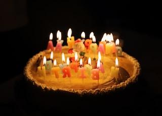 white icing Happy Birthday cake