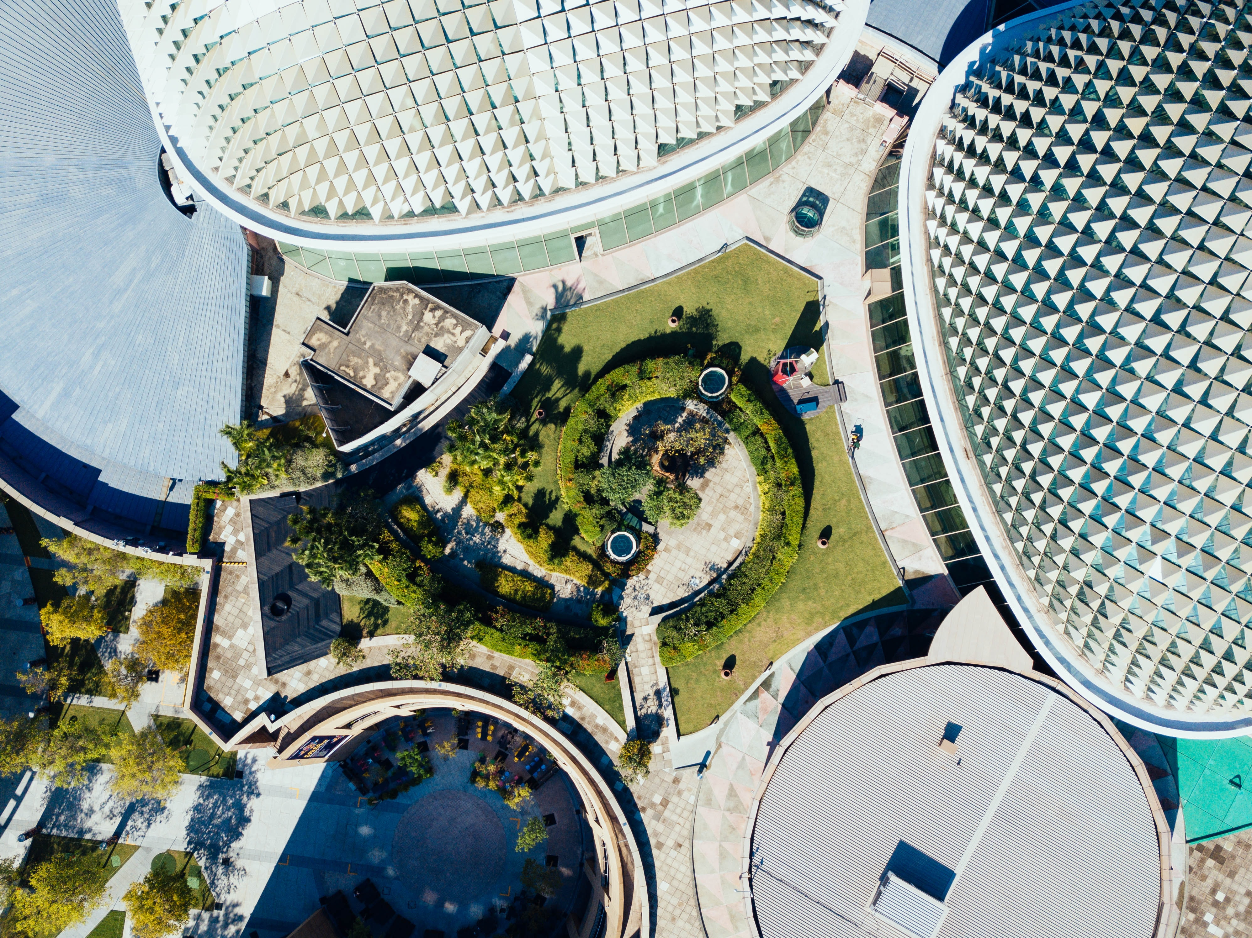aerial photography of architectural buildings