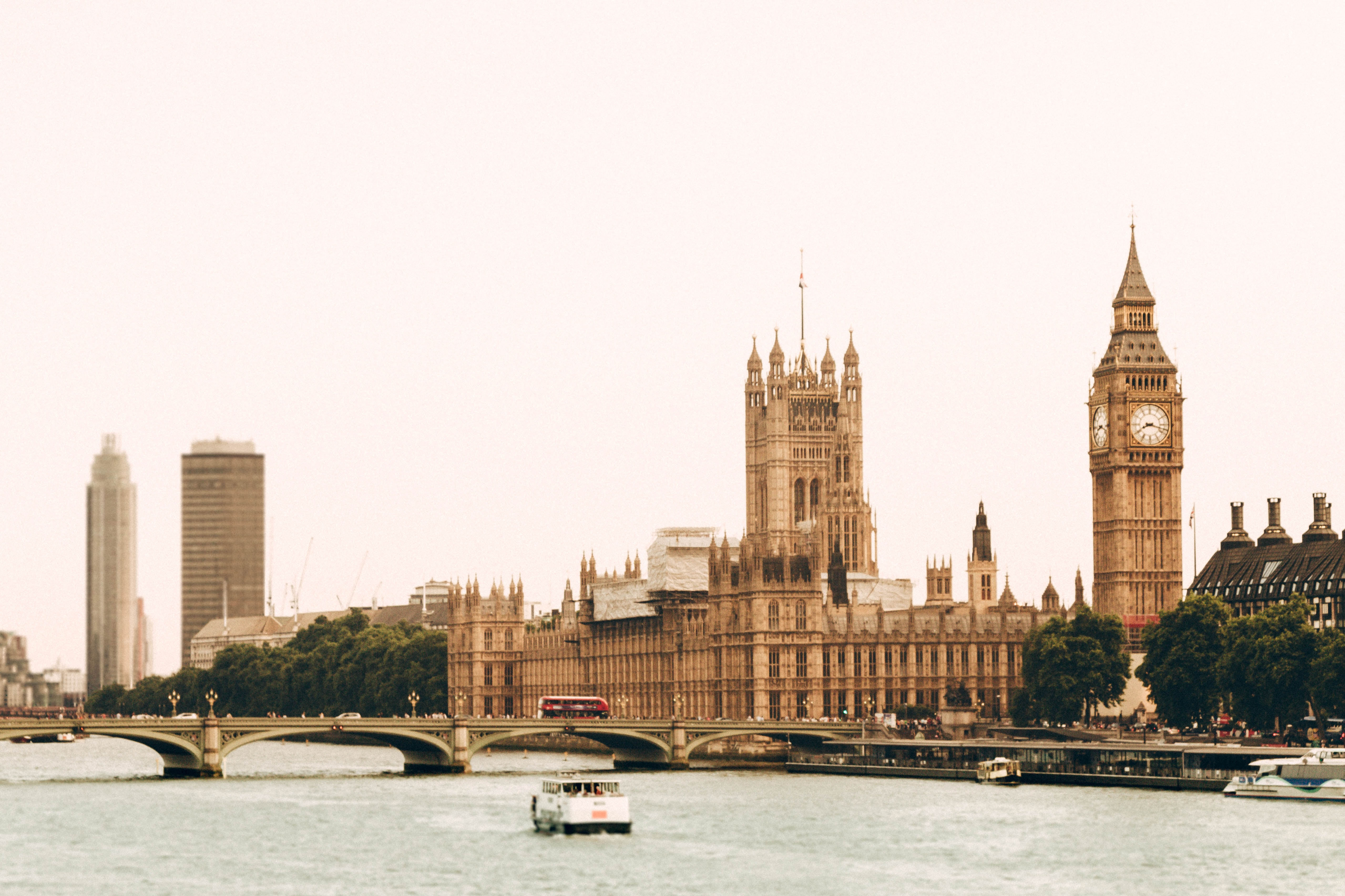 landscape photography of Big Ben under white sky
