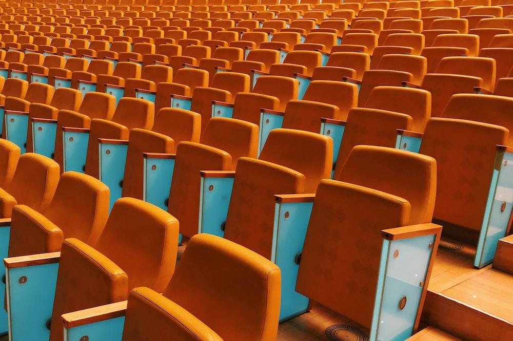 orange stadium seats