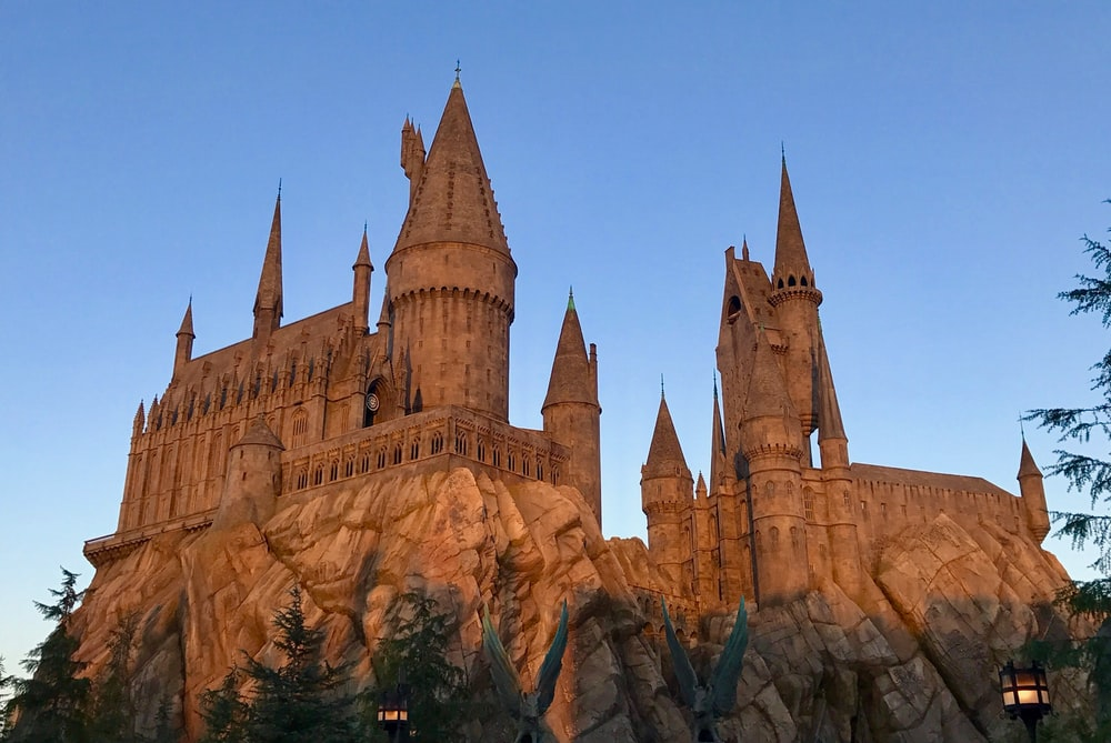 brown castle under blue sky