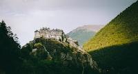 white house on top of mountain
