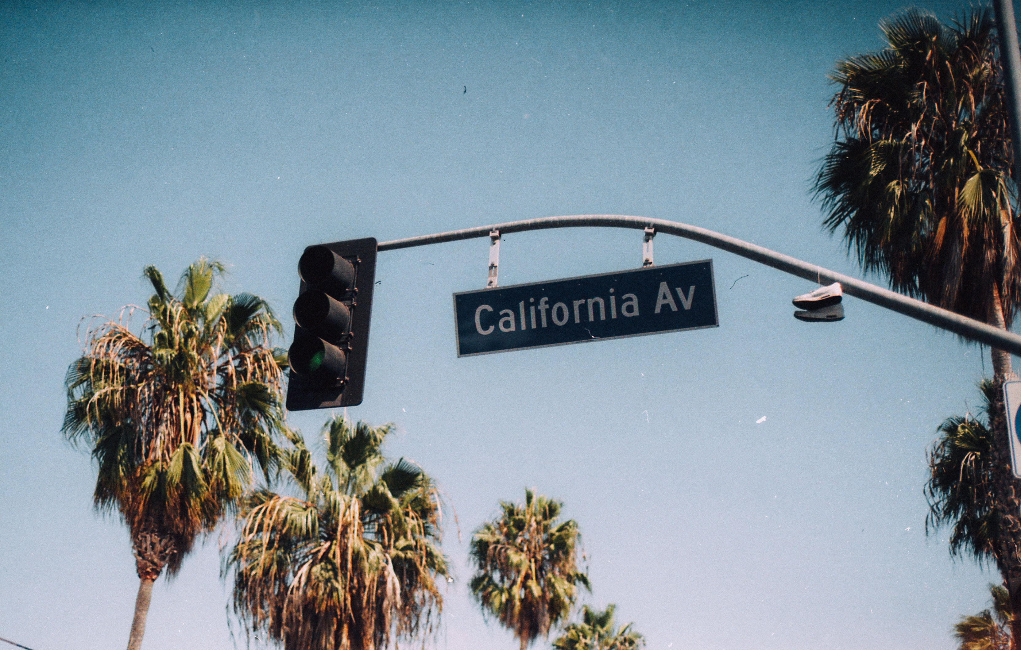 California Av signage on traffic light post