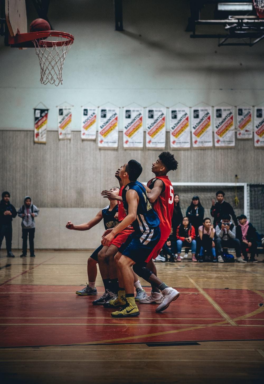 group of people playing basketball