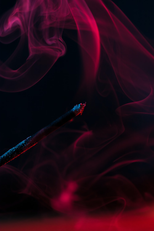red smoke digital wallpaper