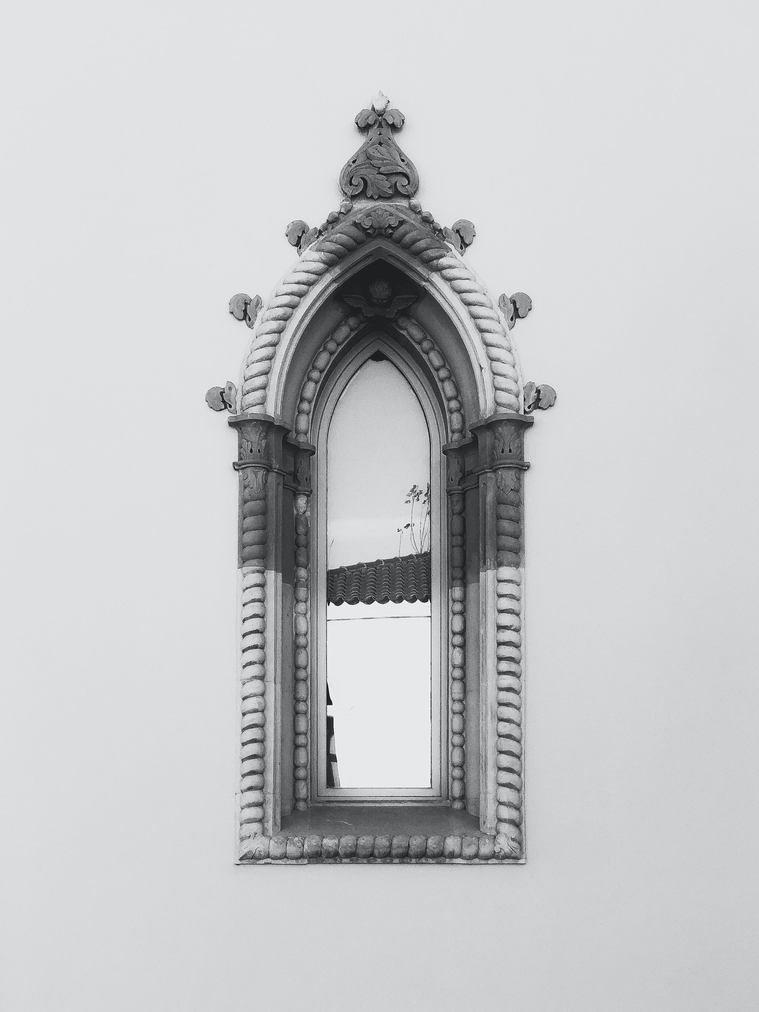 gray concrete window