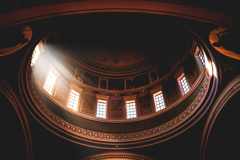 low angle view photography of ceiling