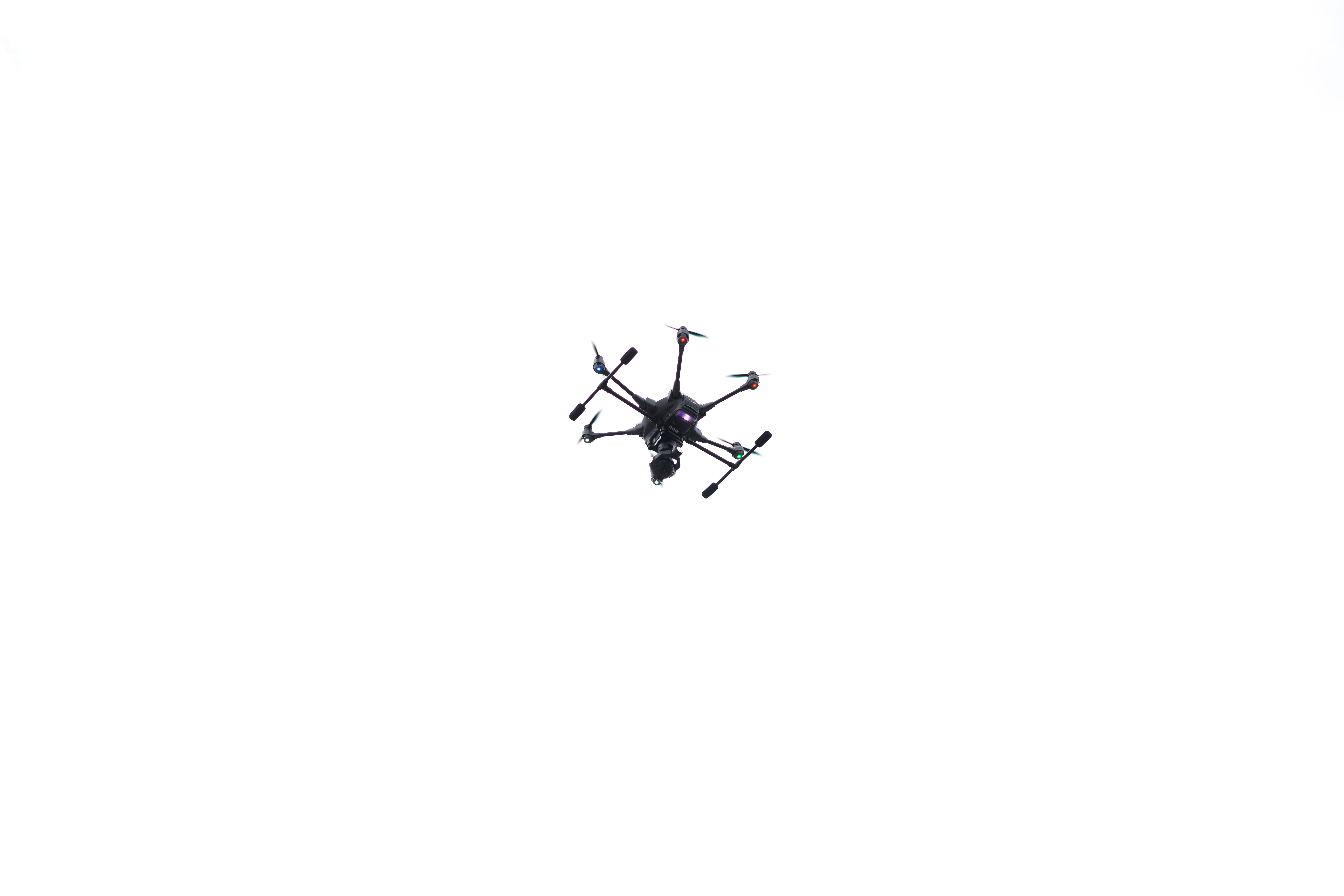 in flight quadcopter