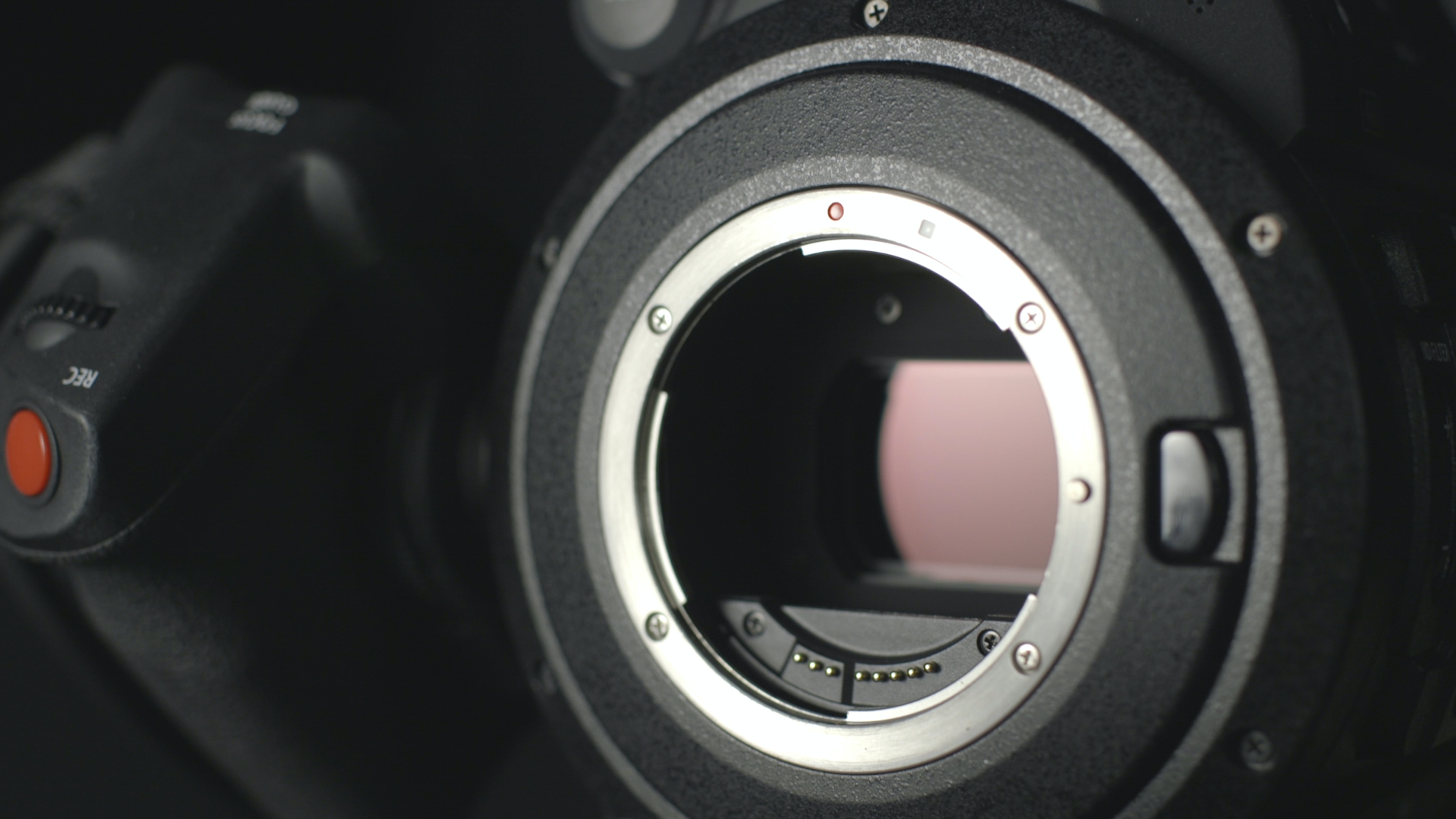 closeup photo of black and gray DSLR camera body
