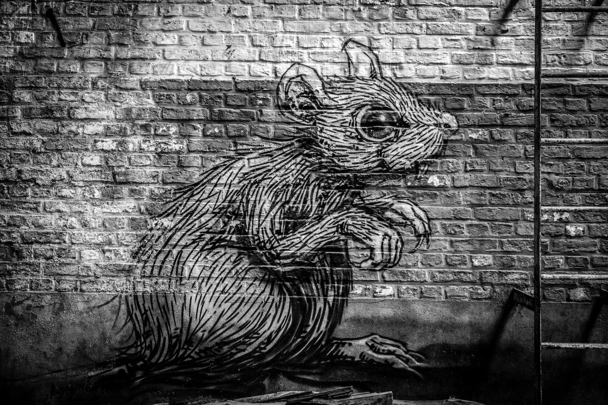 Urbex graffiti tags animal