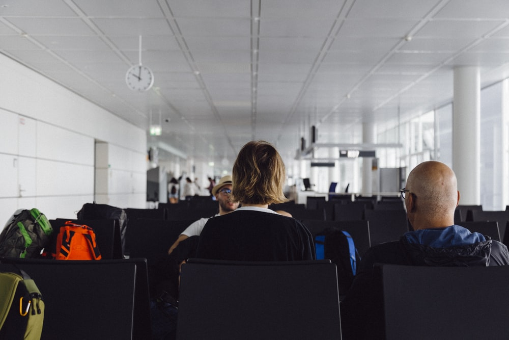 people sitting on airport
