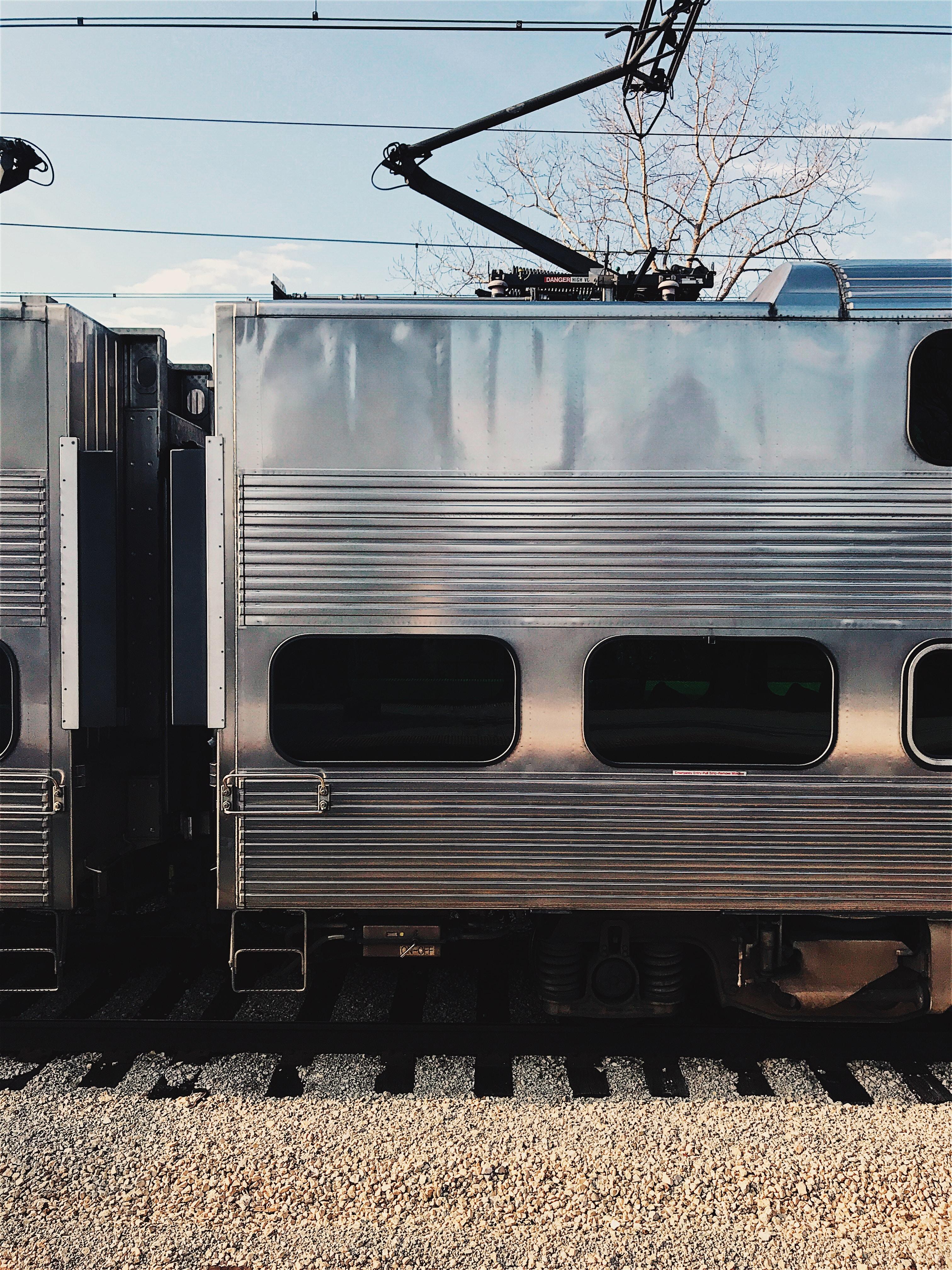 gray transit train