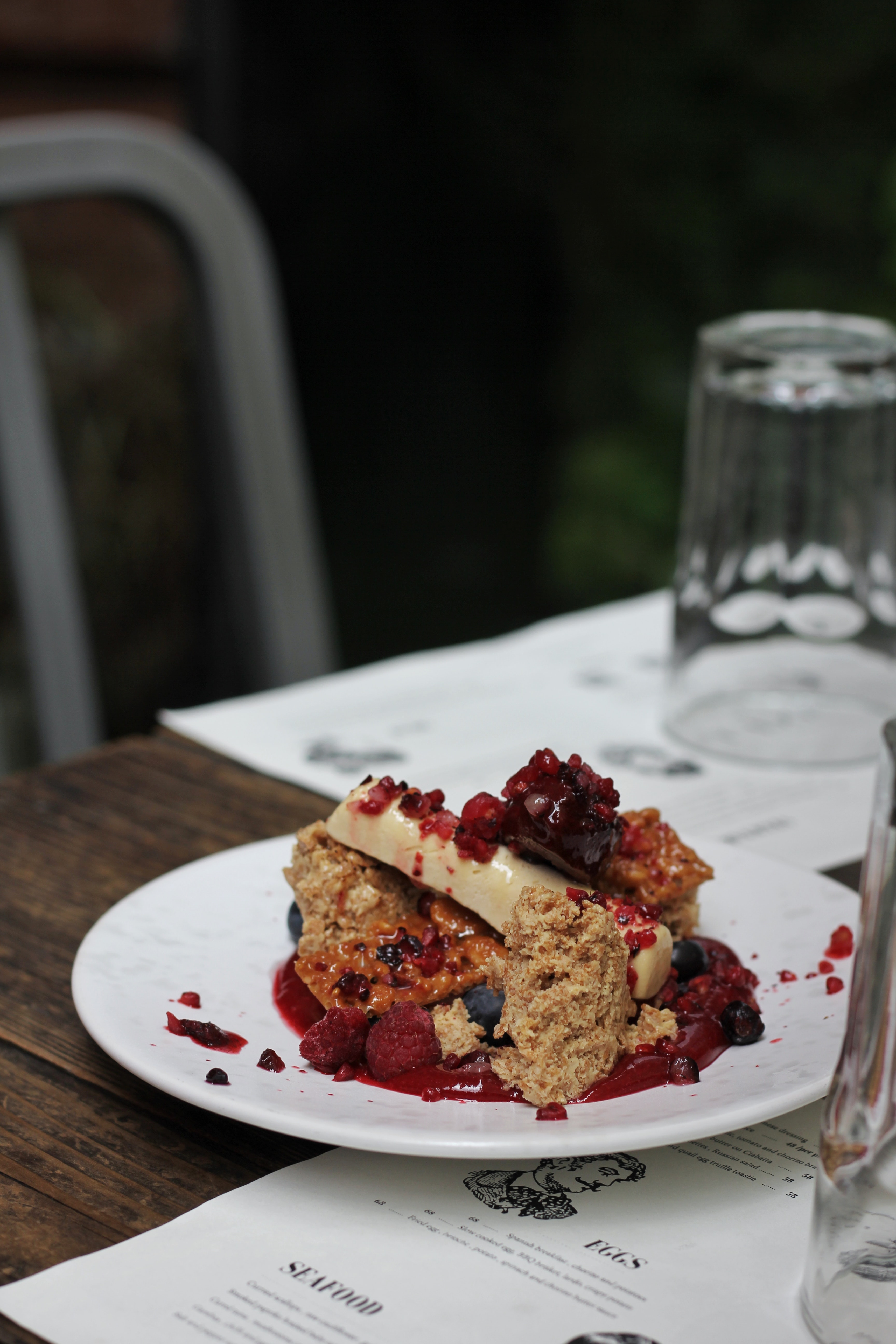 photo of plate of cake