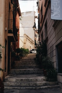 stairs in alleyway