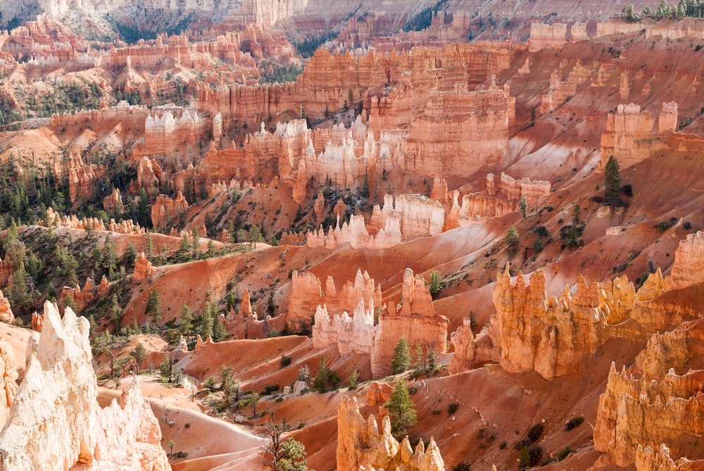 aerial photography of brown rock formations
