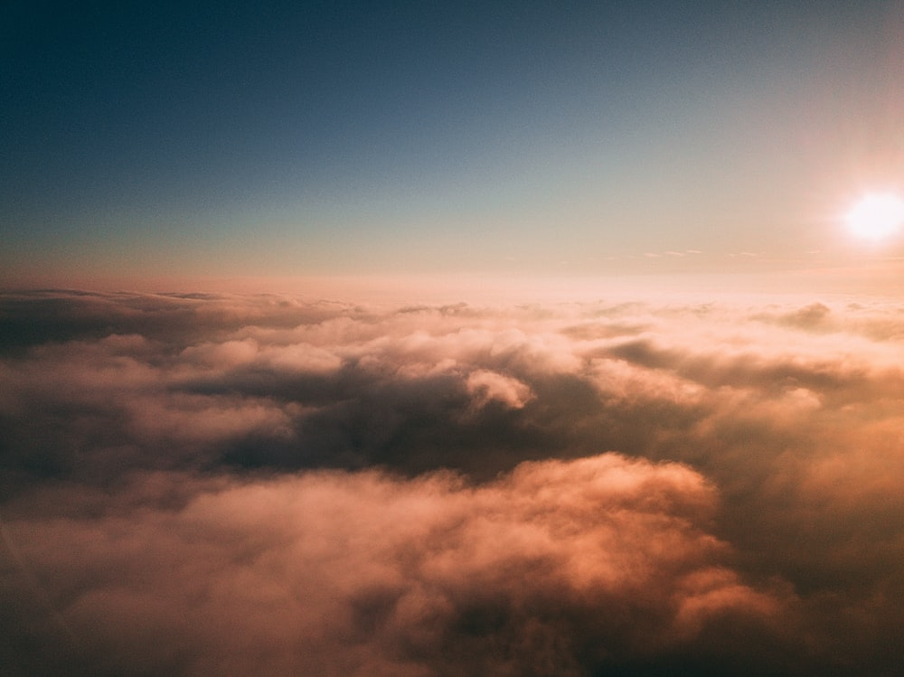 top view of clouds