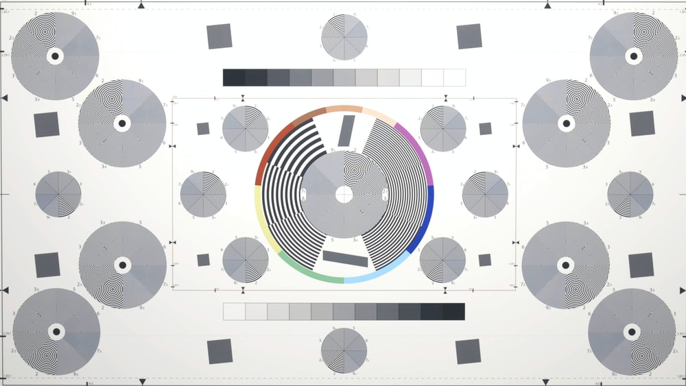 round gray and blue diagram poster