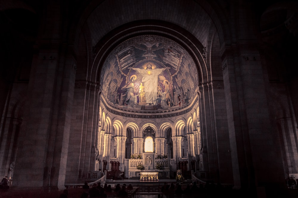 architectural photography of church