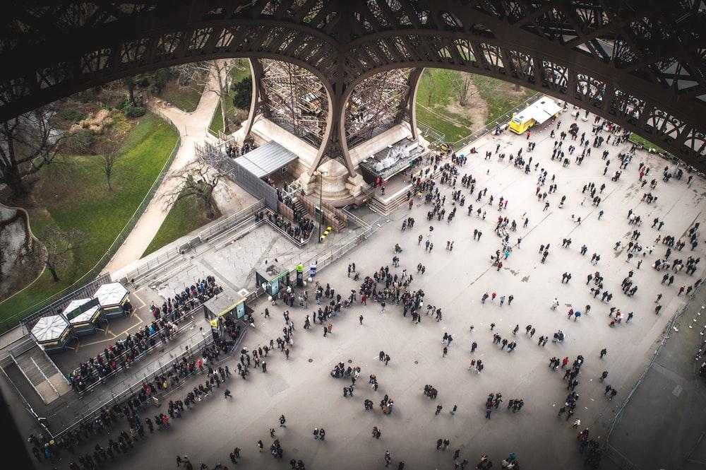 birds eye photography of Eiffel Tower