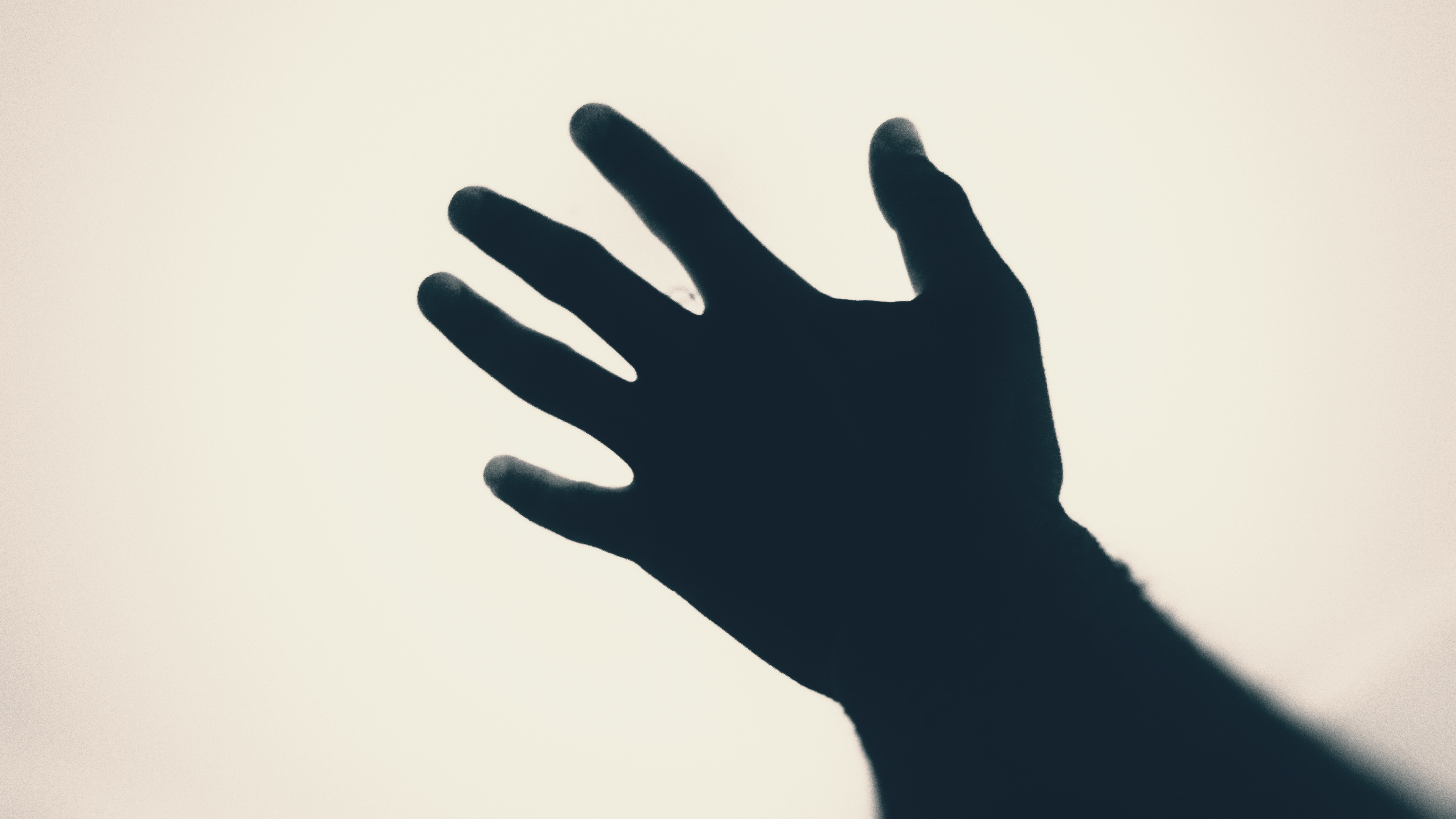 silhouette of left human hand during daytime