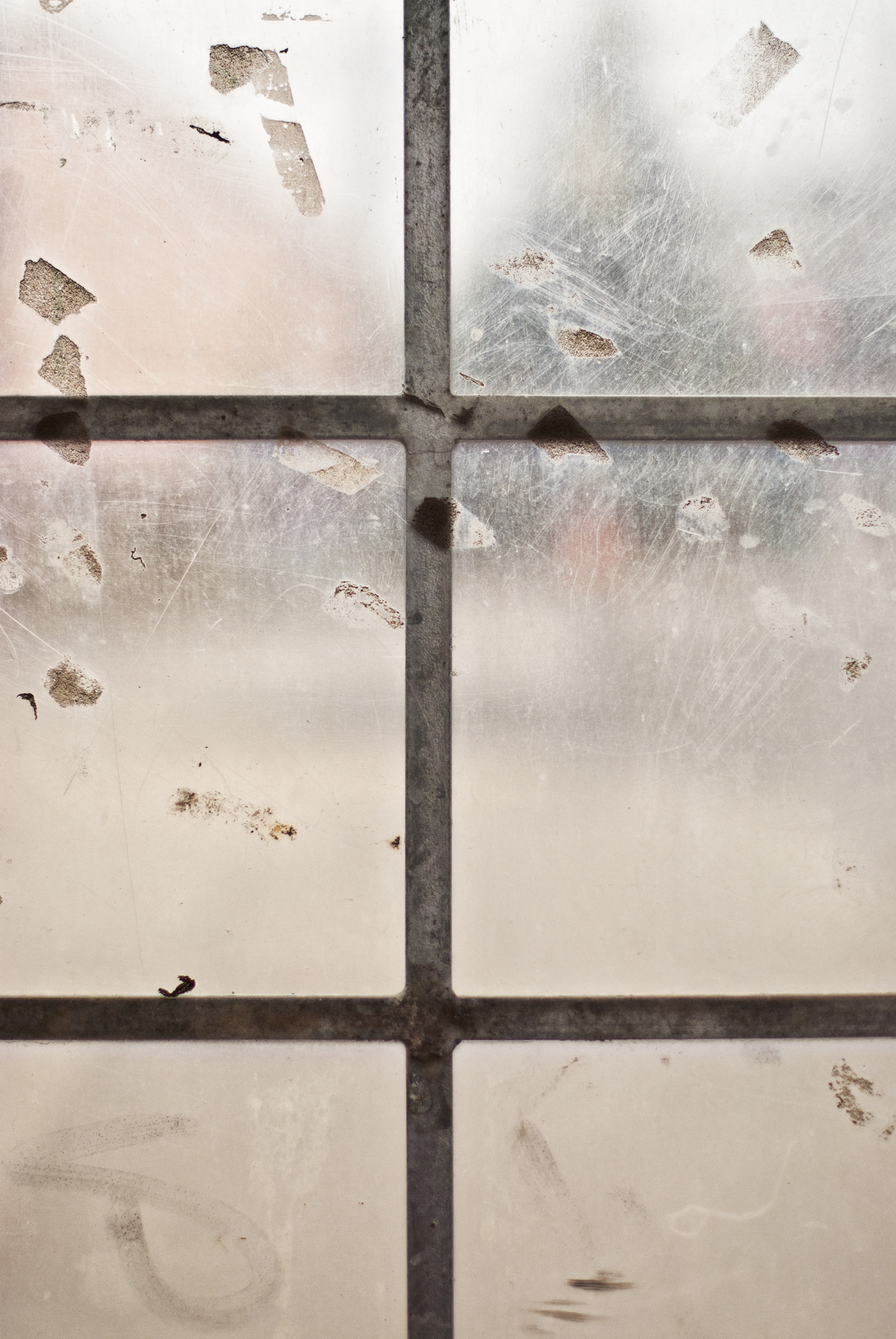 photo of brown framed window