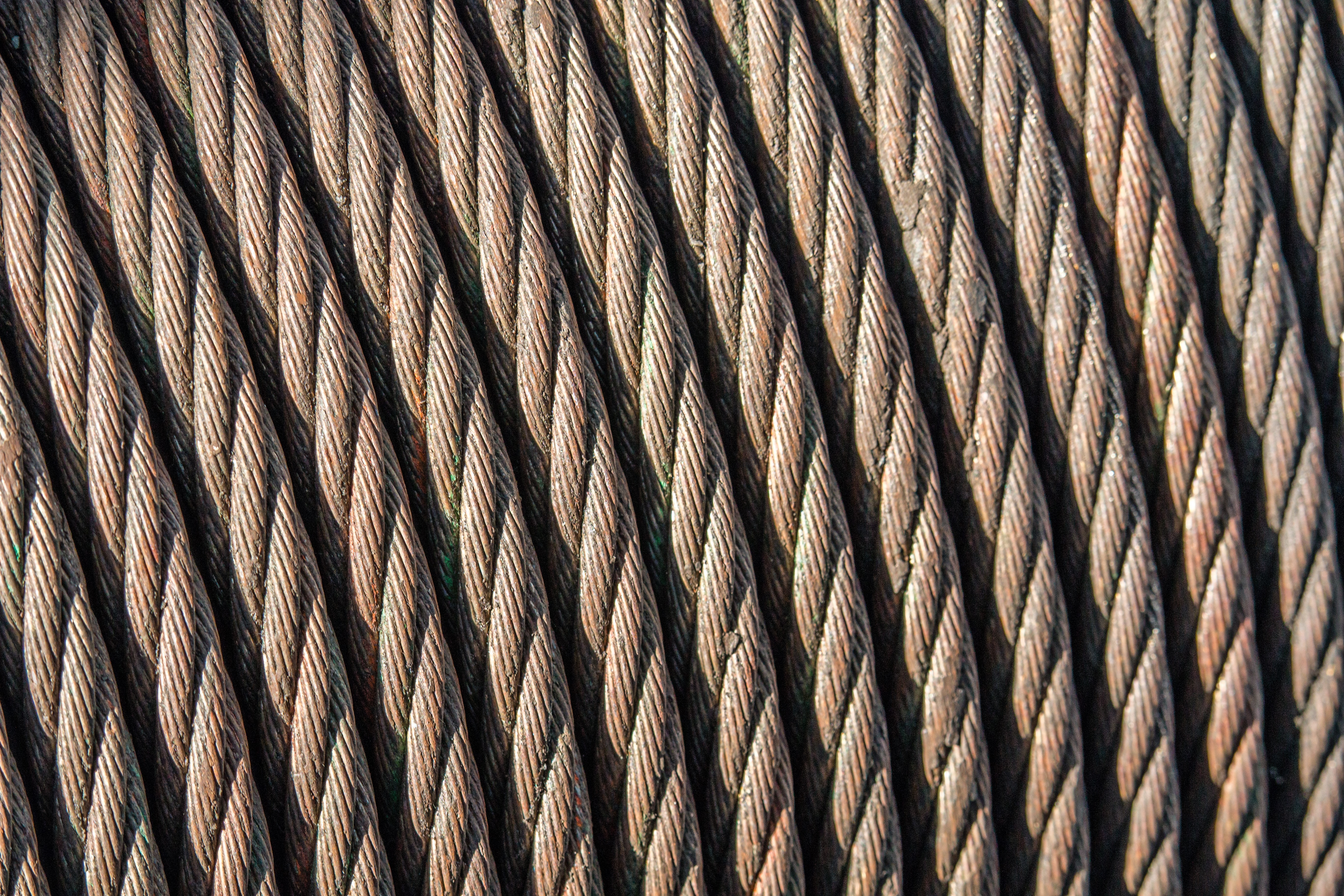 closeup photography of brown ropes