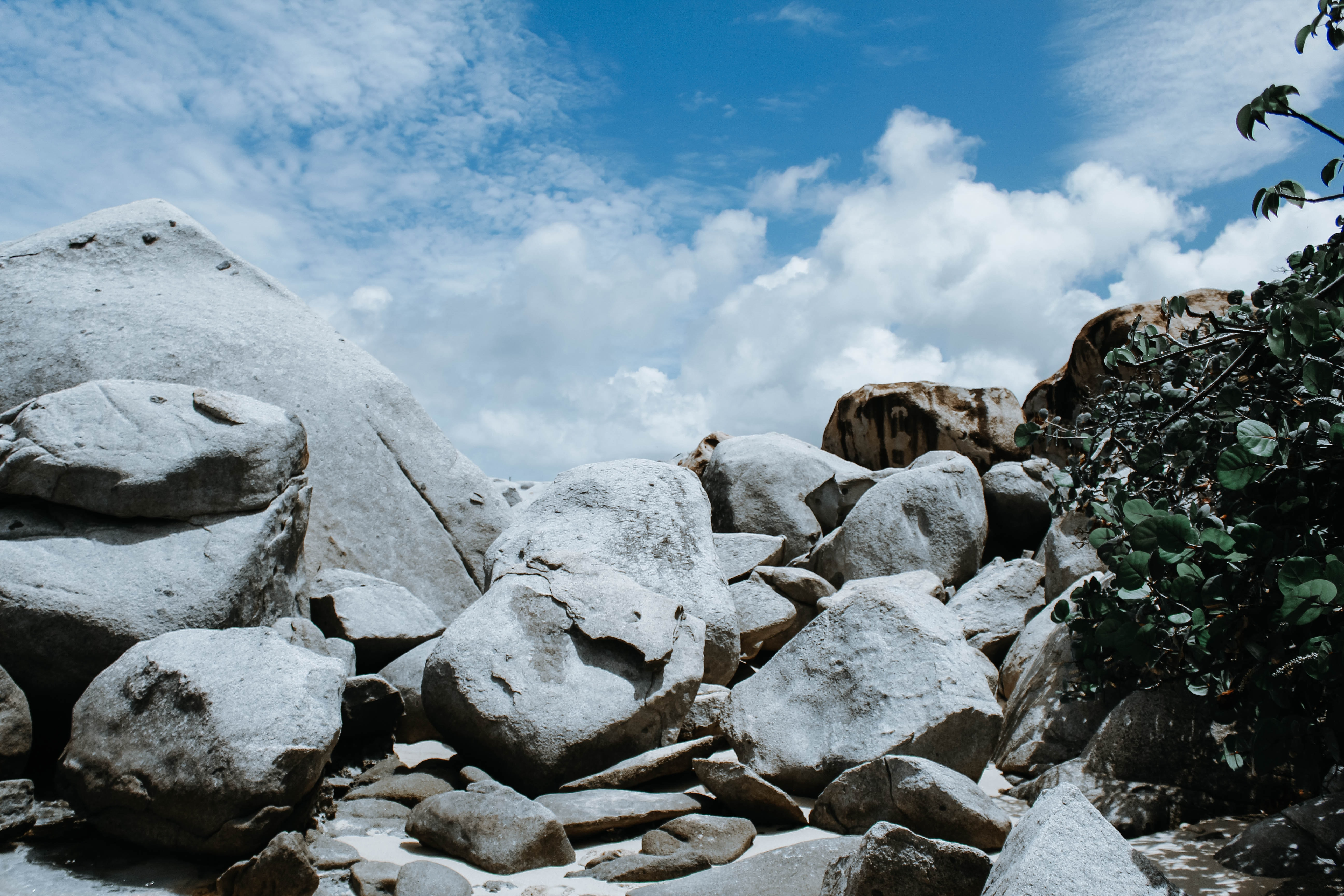 grey stacked stones and boulders at daytime