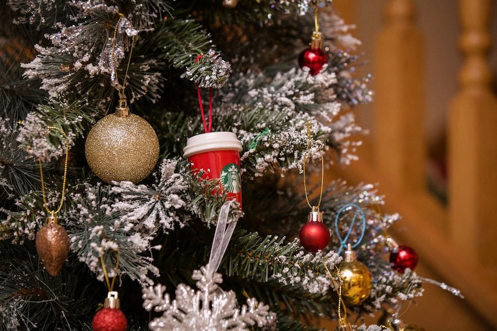 shallow focus of Christmas tree