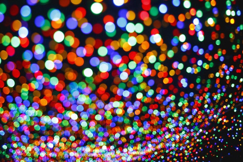 multicolored bokeh photo