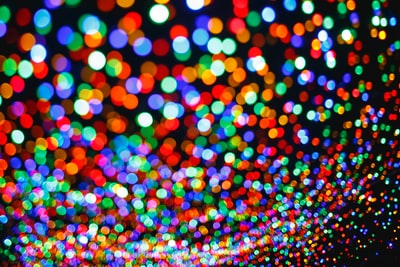 multicolored bokeh photo colour teams background