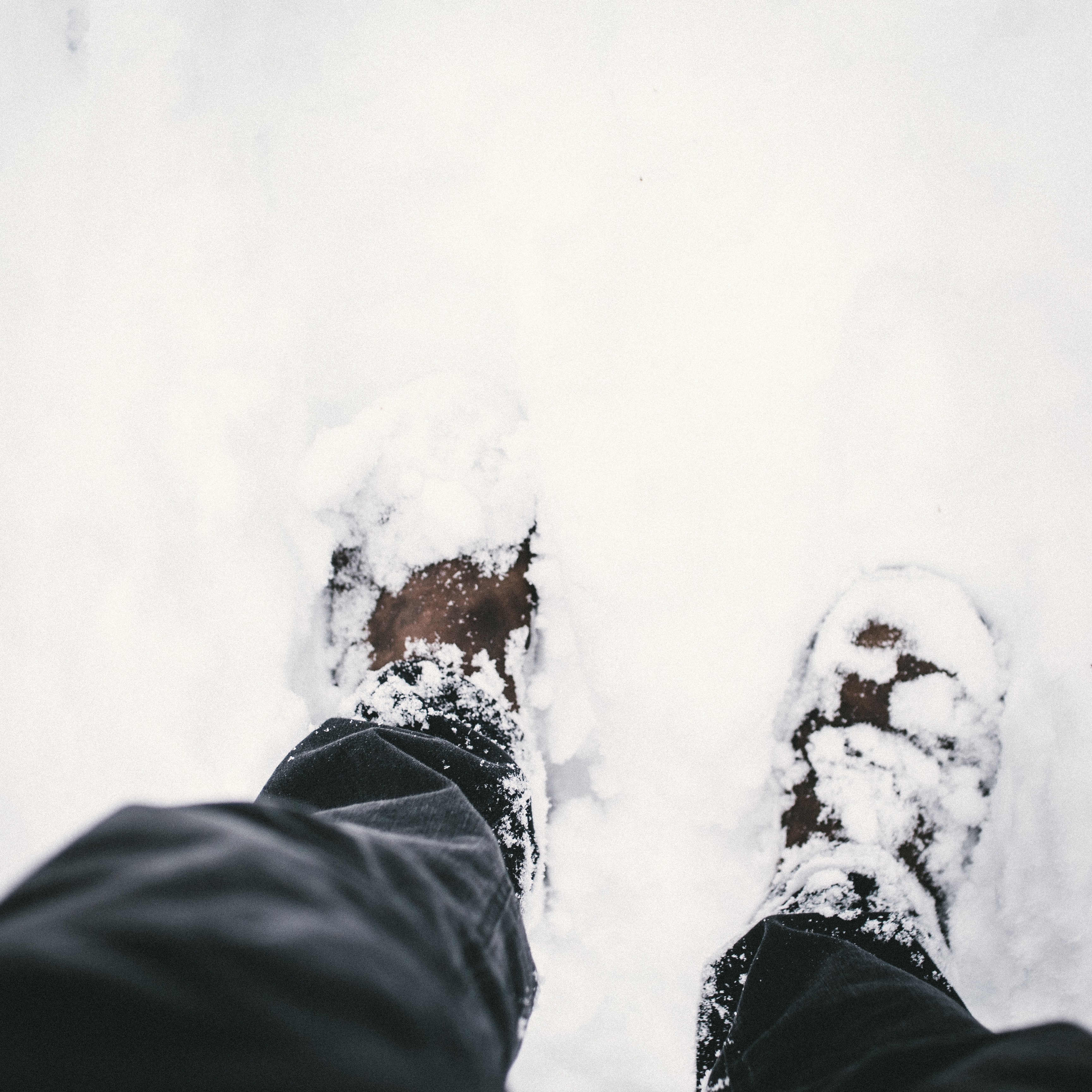 person on snow
