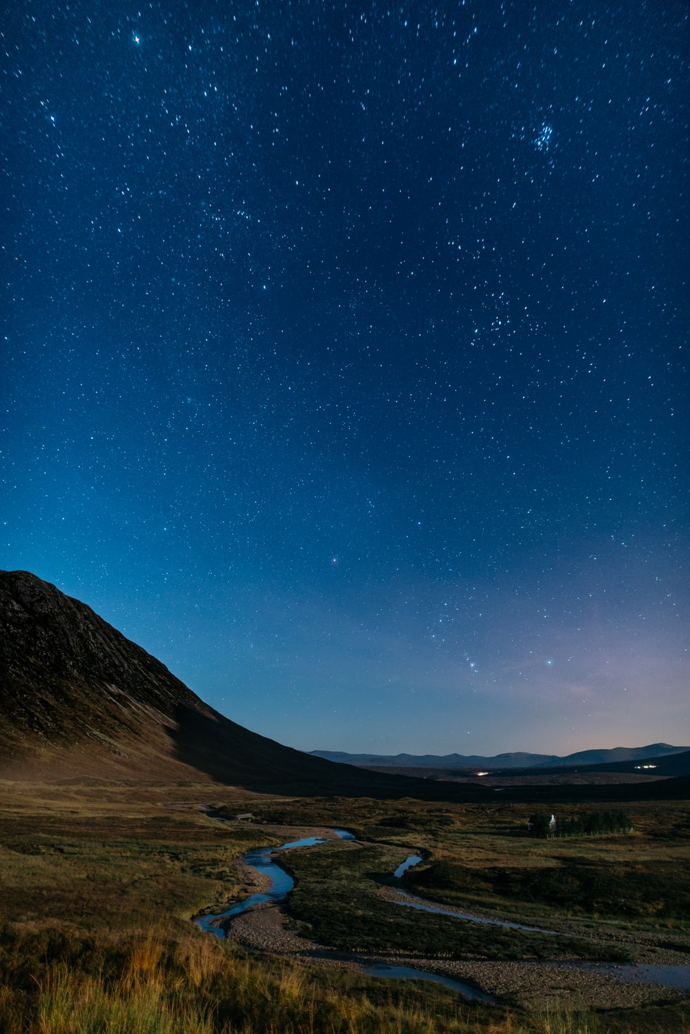 starry sky above mountain