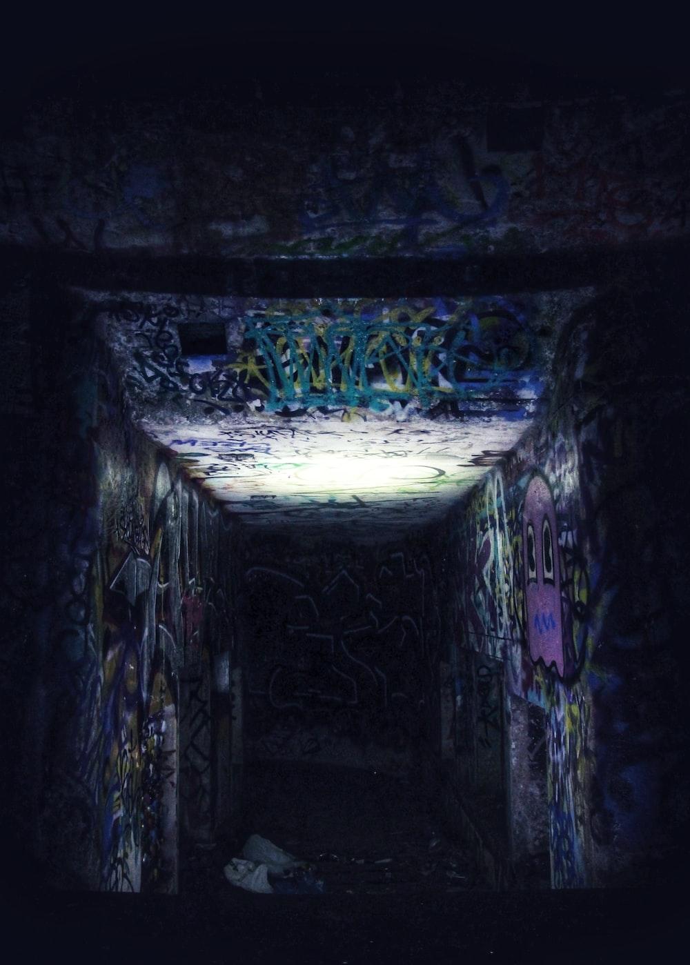 wall with graffiti art