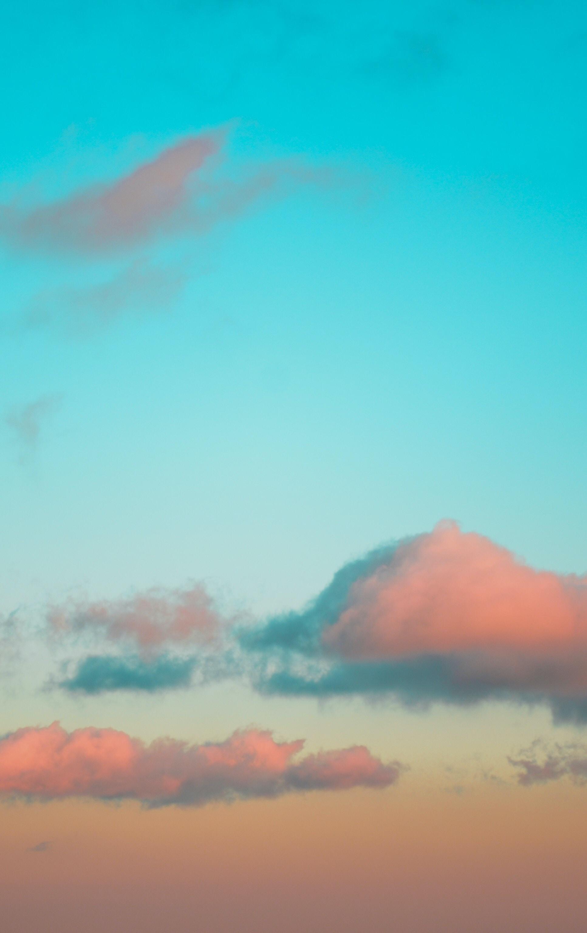 orange clouds during daytime