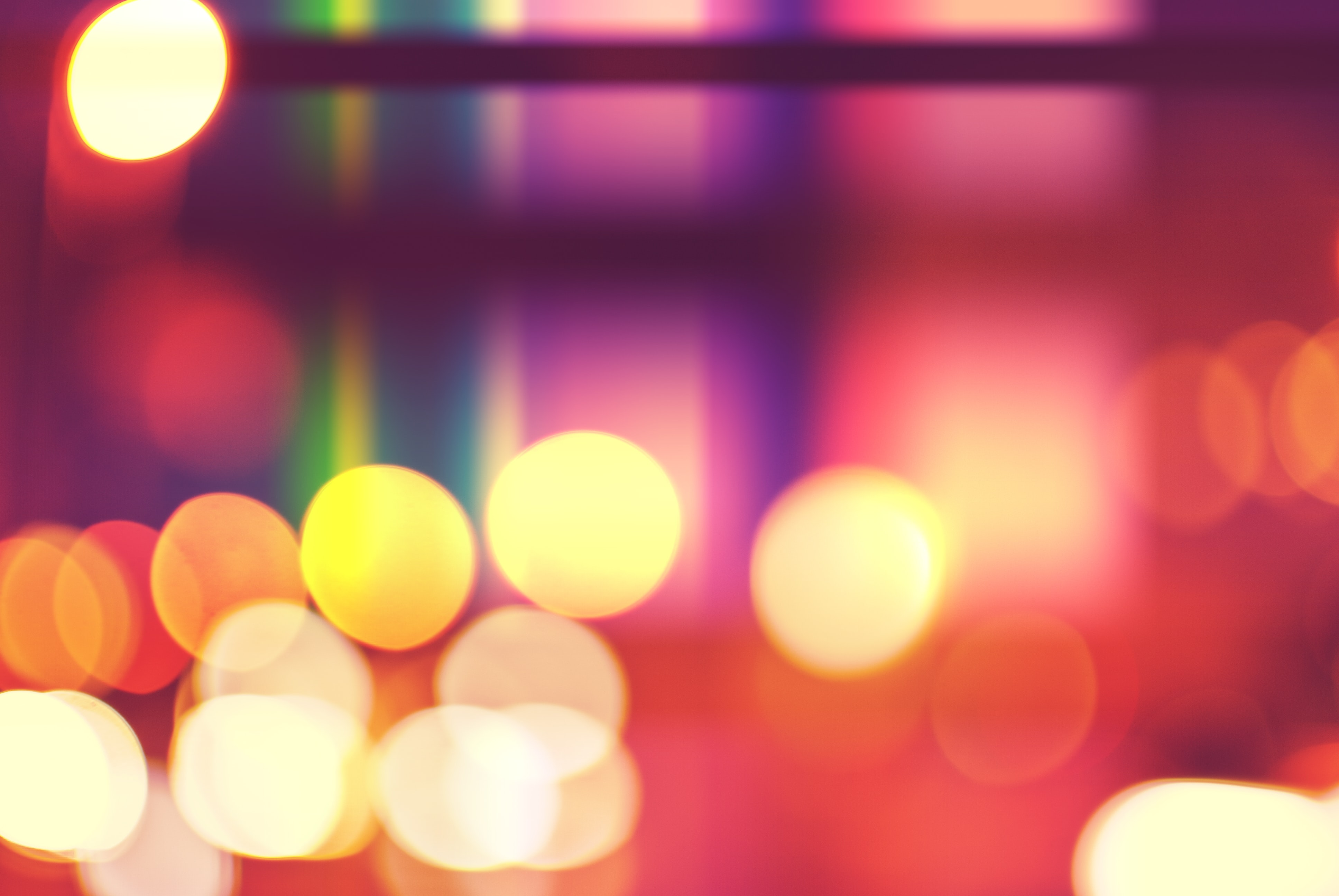 multicolored bokeh photo of lights
