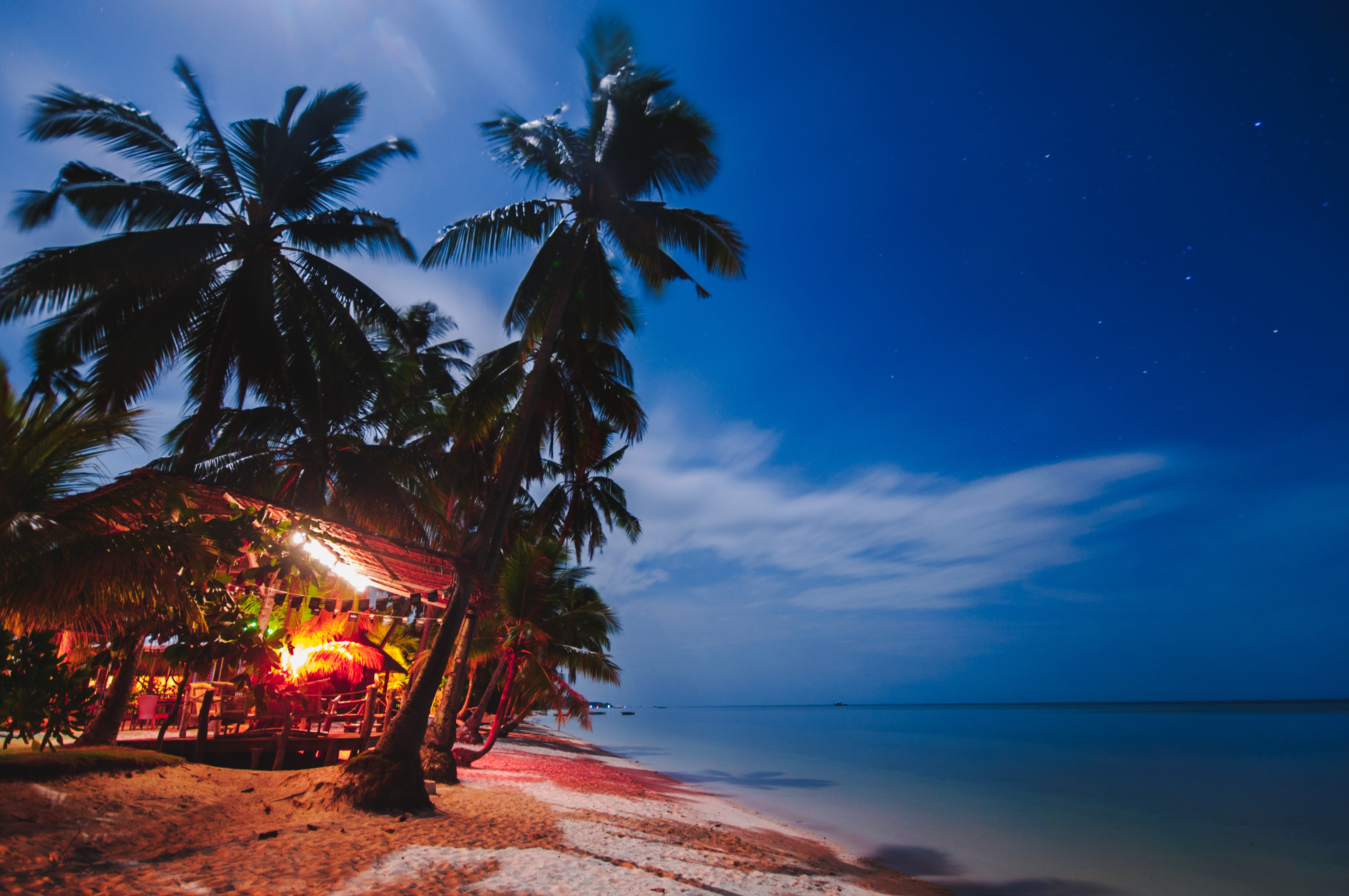 photo showing beach shore during night